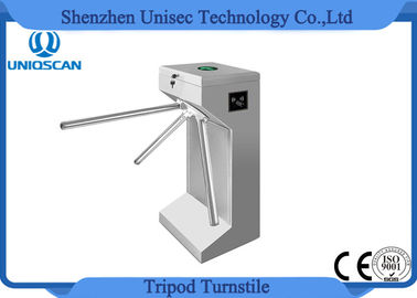 550mm Lane Width Tripod Turnstile Gate 24V Motor With Entry / Exit ID Card System