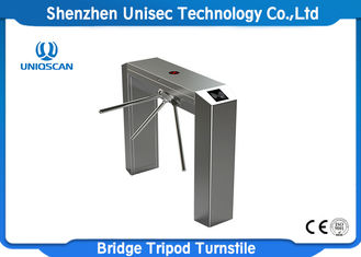 High Sensitivity Pedestrian Turnstile Gate UT550-C Access System Support Fire Alarm System